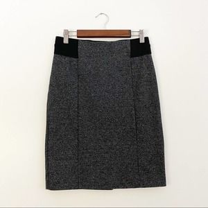 Ann Taylor Petite Stretch Knit Pencil Skirt Grey